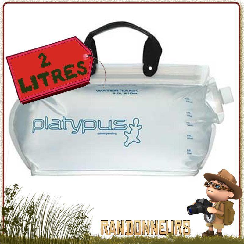 Réservoir d'eau potable PlatyTank de Platypus pour le stockage et le transport de l'eau