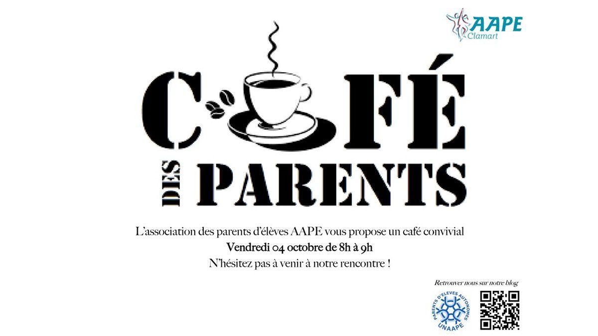 Prochain café rencontre vendredi 4 Octobre de 8H à 9H !
