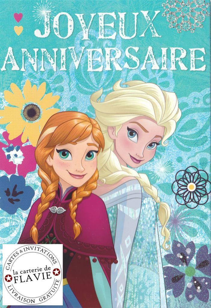 Offrez ou envoyez une jolie carte Disney avec la Reine des Neiges