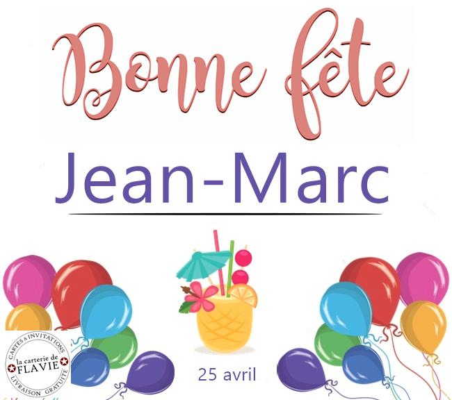 En ce 25 avril, nous souhaitons une bonne fête à  Jean-Marc