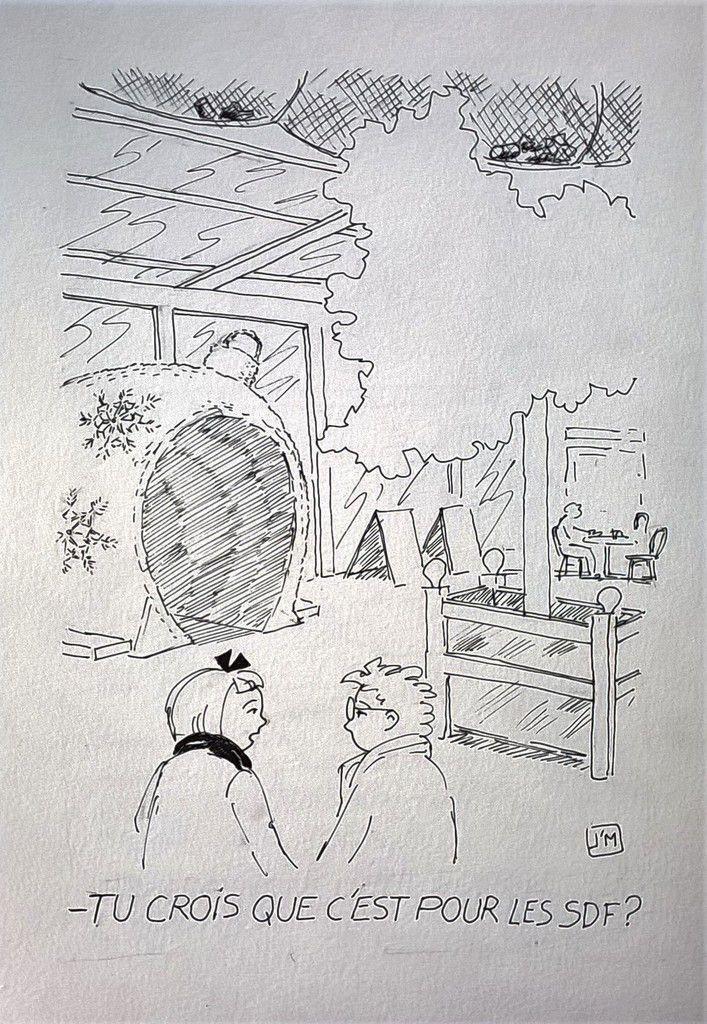dessin de joel Monnier, Sete,