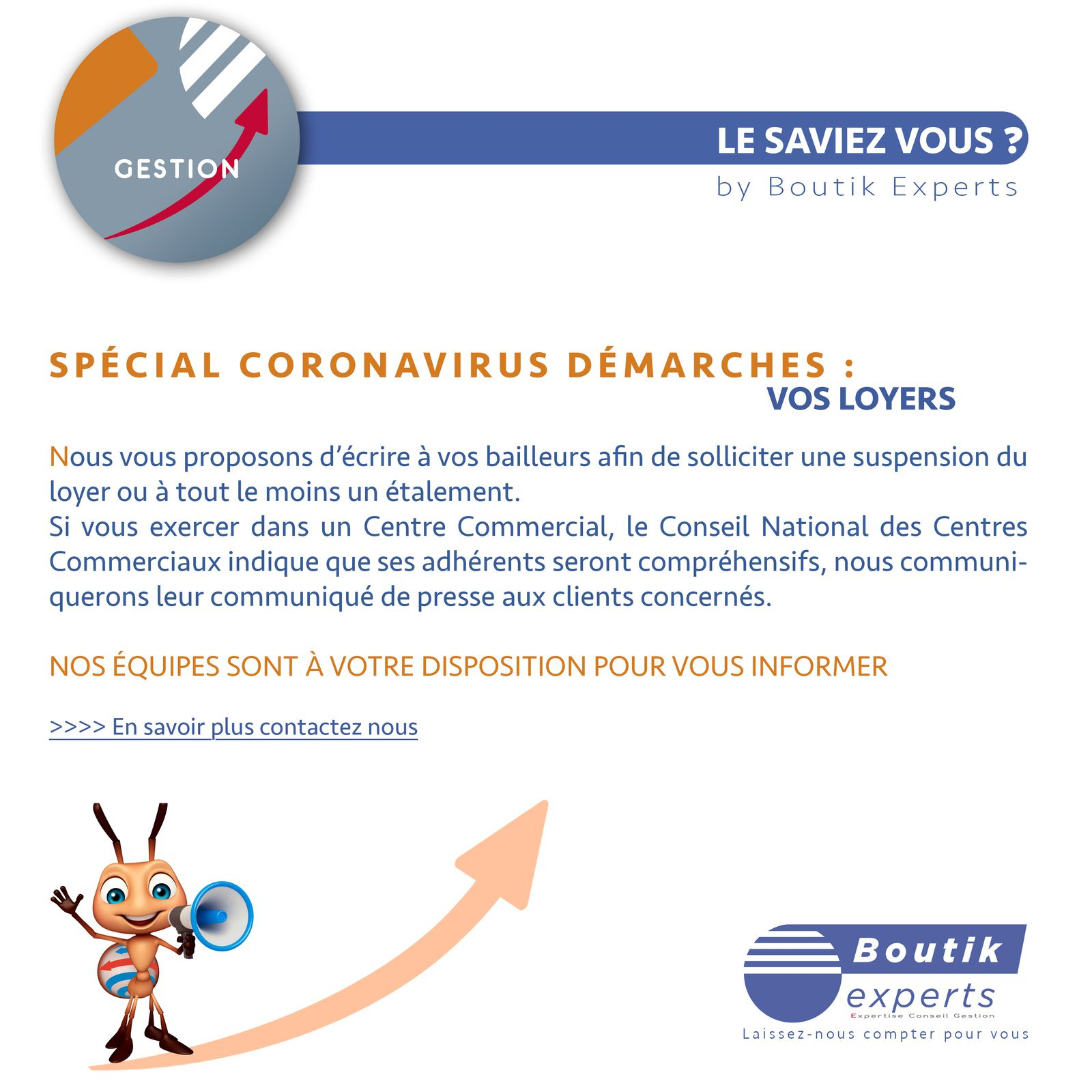 SPÉCIAL COVID-19 : VOS LOYERS