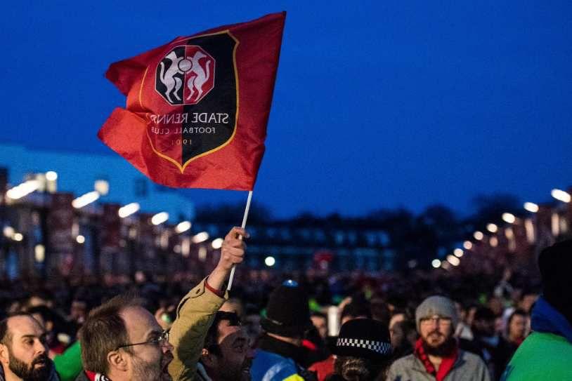 Les supporters Rennais sont venus en nombre à l'Emirates Stadium [Crédit : UEFA]