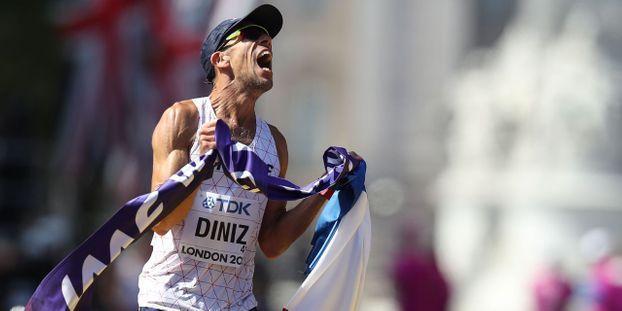 Yohann Diniz est le favori à sa propre succession sur le 50km marche [Crédit photo : Europe 1]