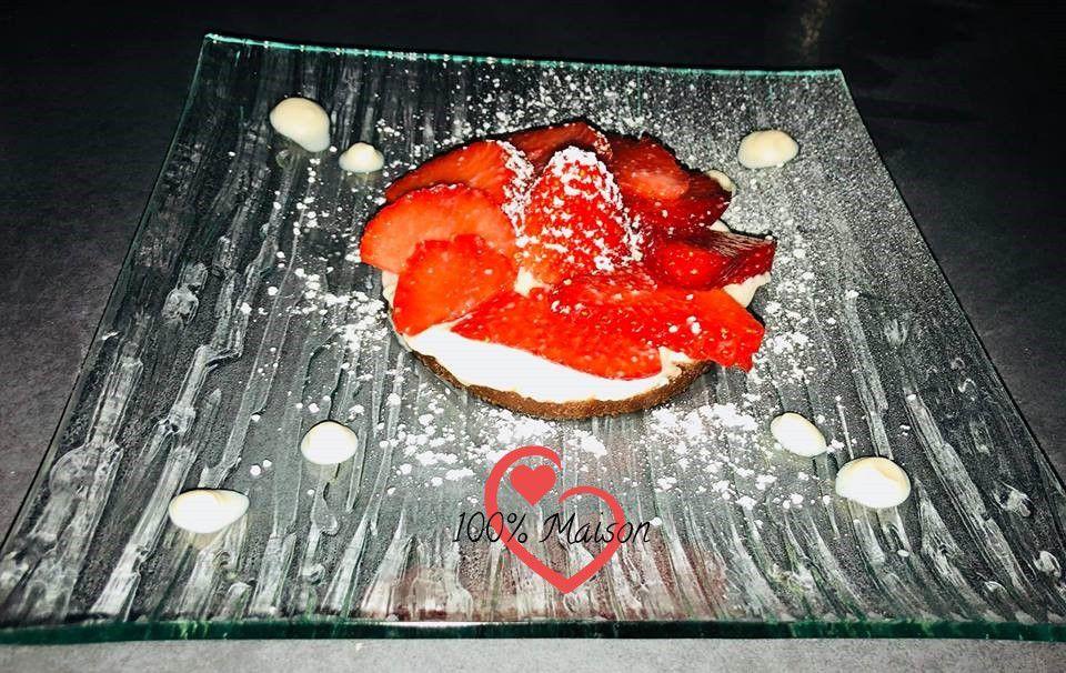 Dessert aux fraises.