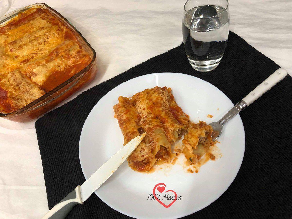 Cannelonis à la viande hâchée de Boeuf
