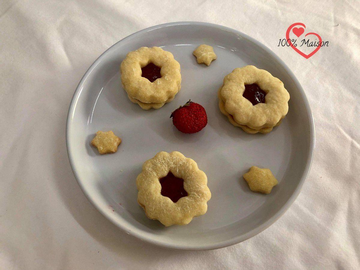 Biscuits Sablés à la Fraise