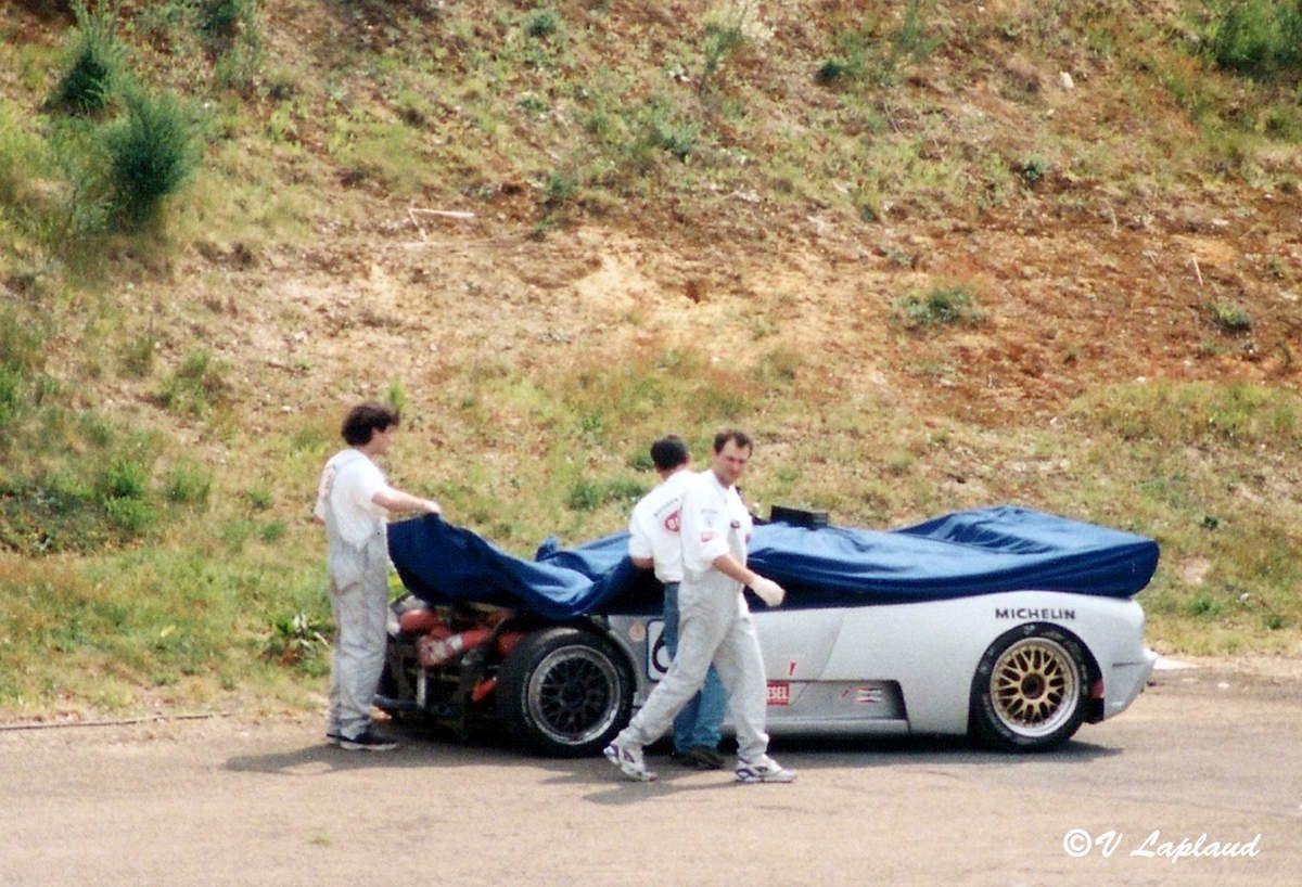 Bugatti EB 110 SC #044 Essais Préliminaires 28 avril 1996