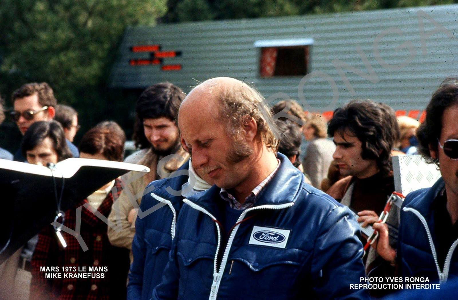 Michael Kranefuss Essais Préliminaires des 24 Heures du Mans 1973.