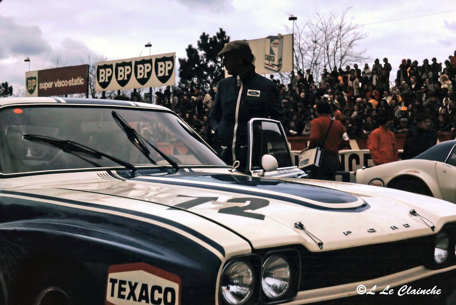 Ford Capri LV Michael Kranefuss 4 Heures du Mans 1973.