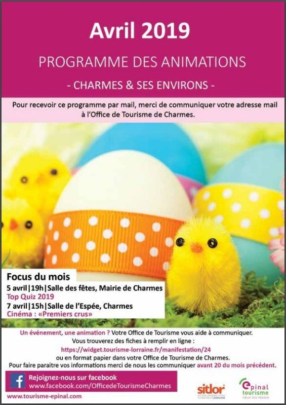 Programme des animations Charmes et alentour page 1