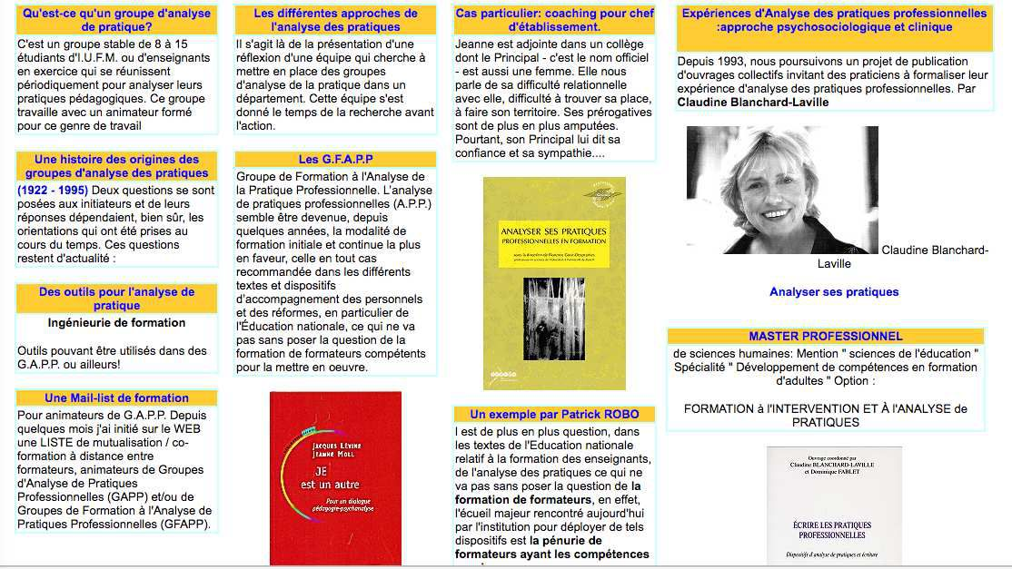 Cours UE 4-2: Analyse des pratiques et démarches réflexives ( analyse de pratique/activité professionnelle )