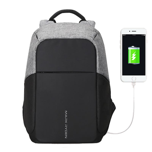 secure backpack with usb charging port