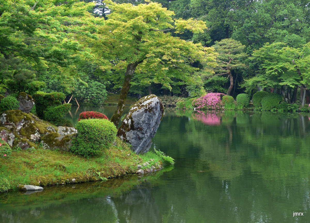 Les merveilleux jardins de Kanazawa.