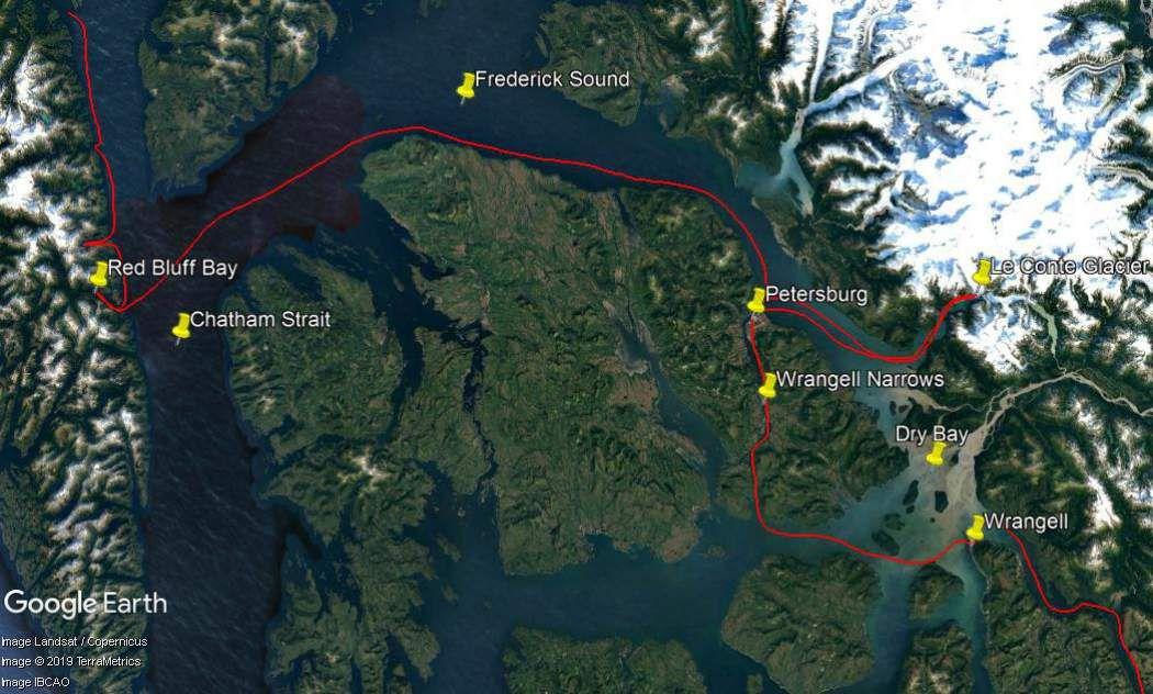 De Chatham Strait à Wrangell.