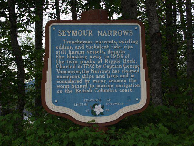 Seymour Narrows et l'explosion de Ripple Rock en Avril 1958.