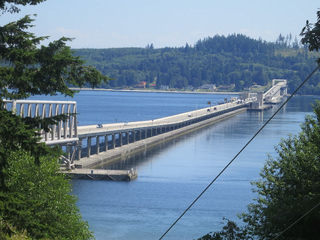 Hood Canal floating bridge.