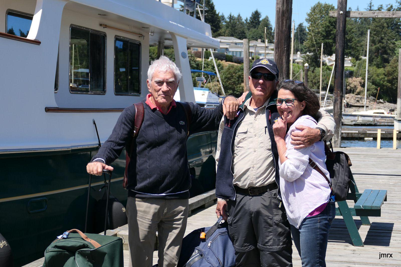 Retrouvailles à Ganges avant le nouveau départ pour l'Alaska (juin 2019).