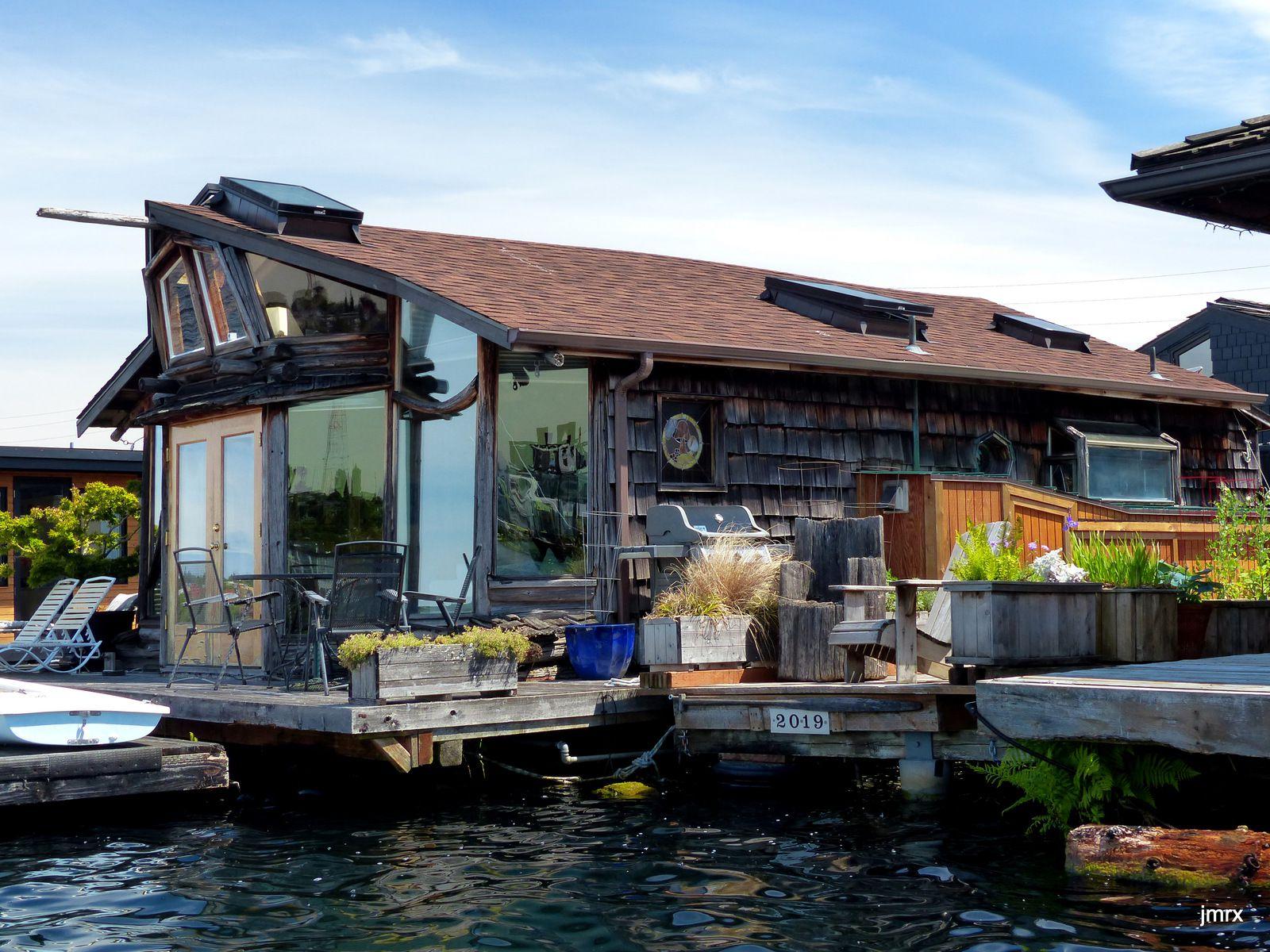 Quelques unes de ces maisons flottantes de Seattle. Un régal pour l'oeil.