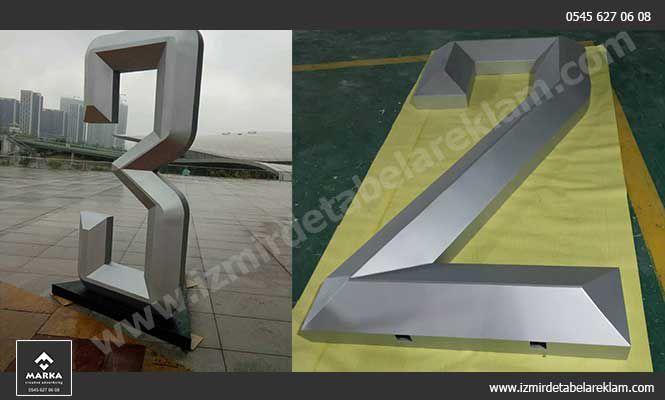 Krom Kutu Harf tabela Çeşitleri, 3D Kabartma Harf, Işıklı Tabela, İzmir Tabela Modelleri