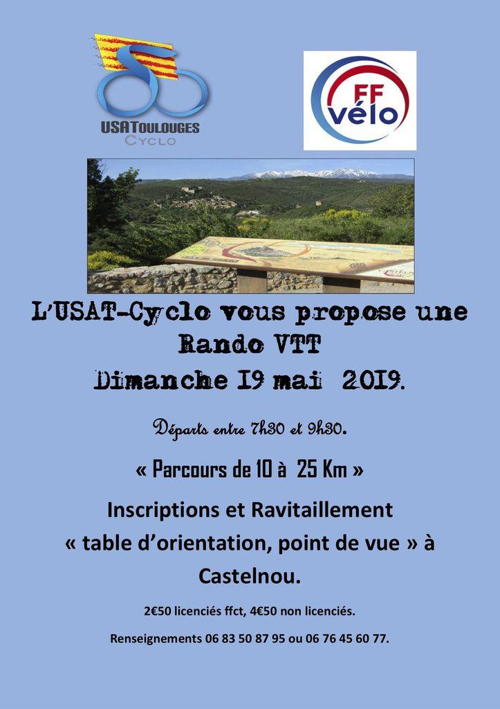 Sortie dimanche 19 mai - Randonnées cyclo et VTT à Toulouges