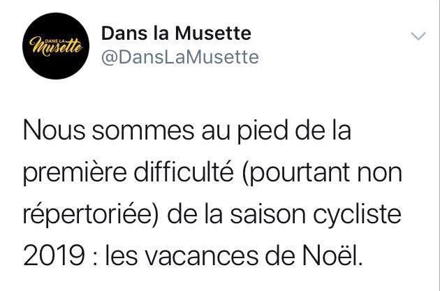 Première difficulté de la nouvelle saison du cyclo