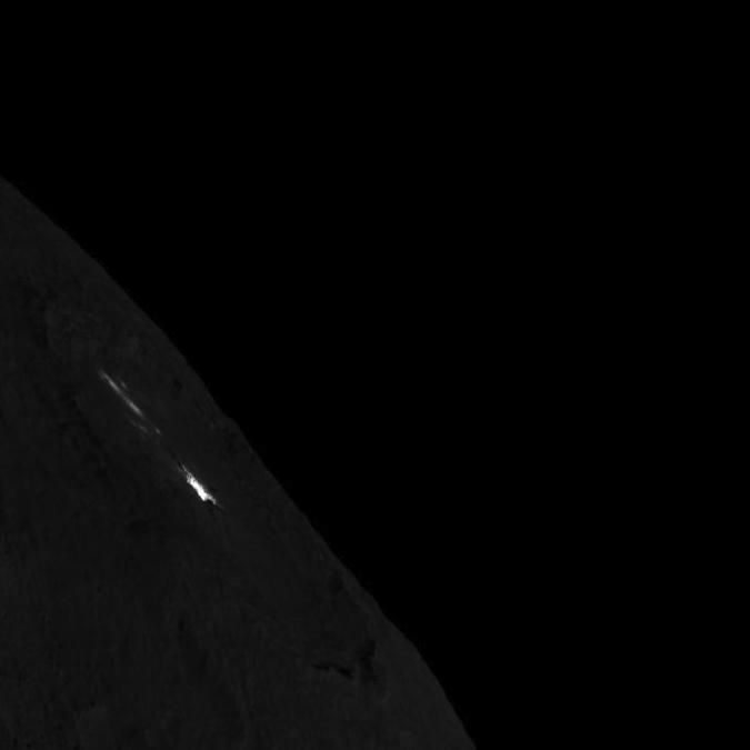 Occator Crater on Ceres limb (NASA/JPL-Caltech/UCLA/MPS/DLR/IDA)