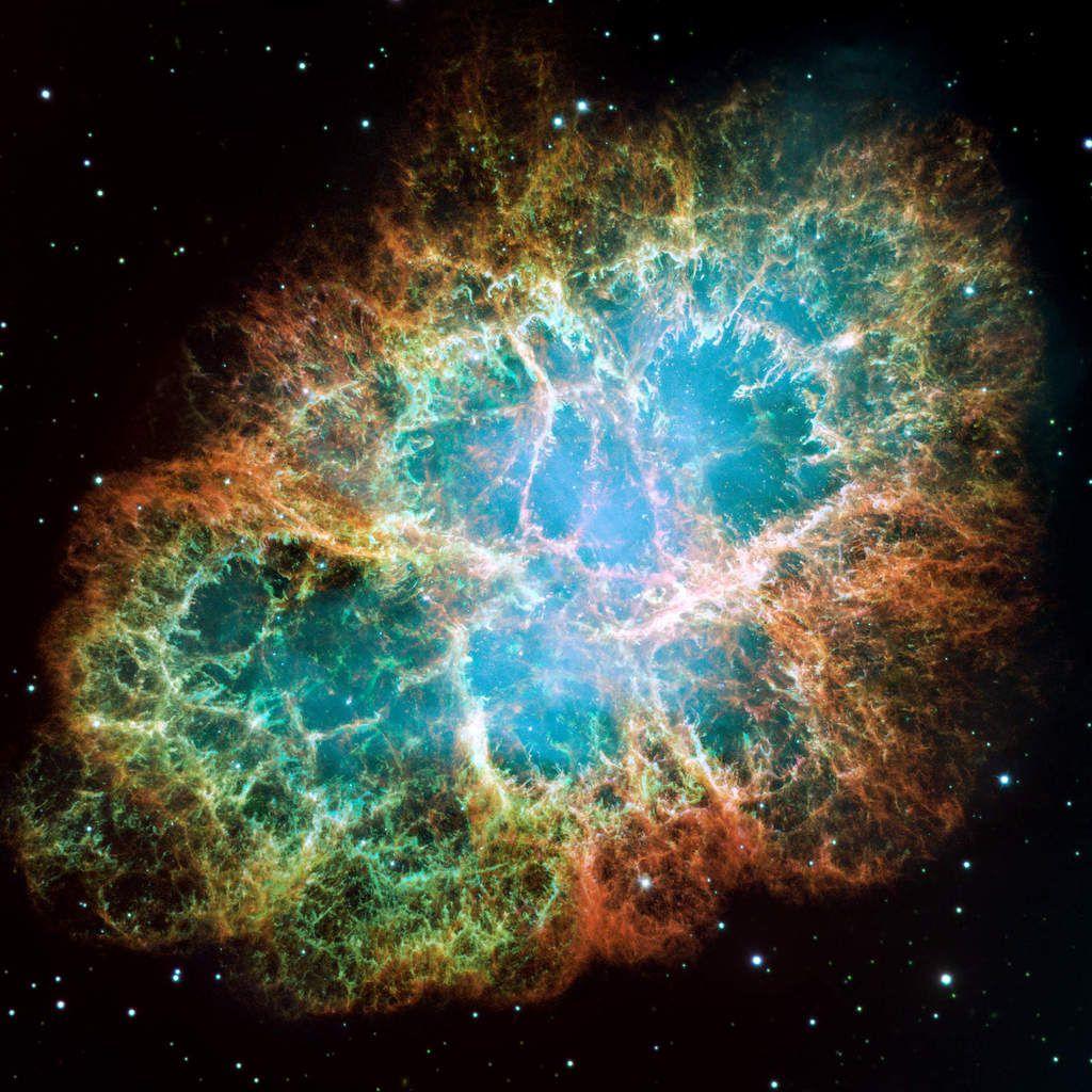 Crab Nebula. Credits: NASA, ESA, J. Hester and A. Loll (Arizona State University)