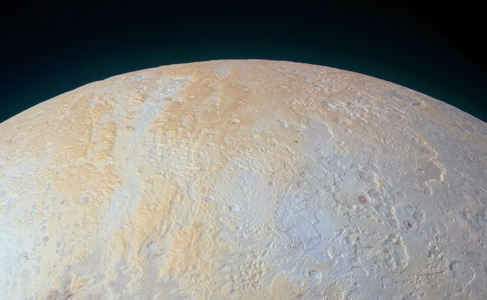 The Frozen Canyons of Pluto's North Pole (NASA/JHUAPL/SwRI)