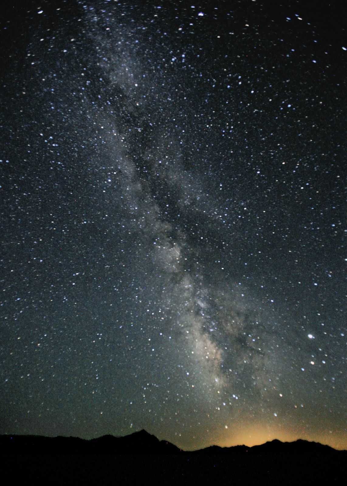 Photograph of the Milky Way in the night sky over Black Rock Desert, Nevada by Steve Jurveston