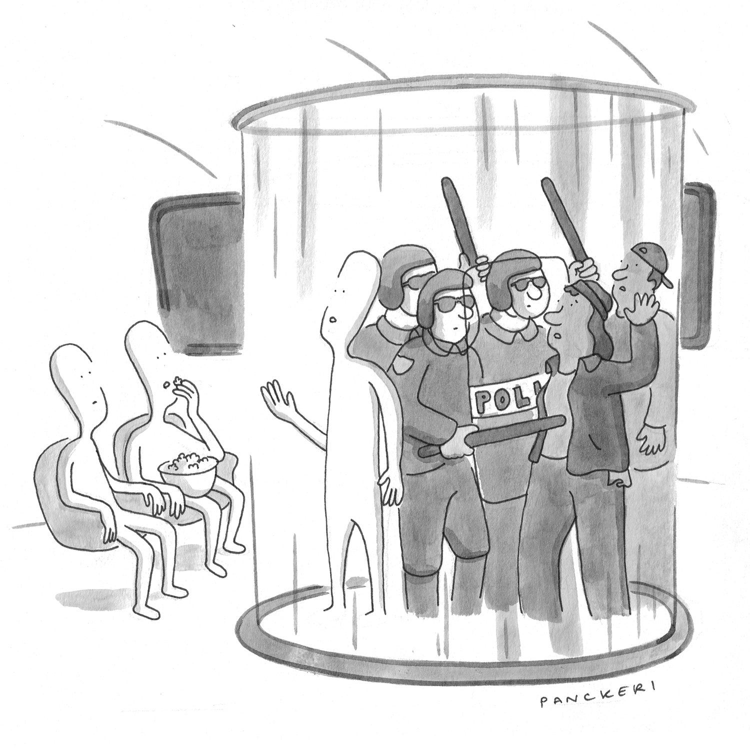 Can the humans cure racism, end poverty, and stop climate change in time? Tune in next week to find out. (New Yorker)