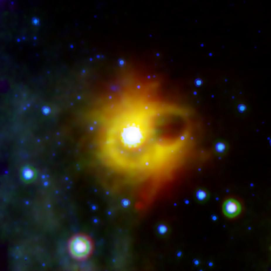 Ghostly ring around magnetar SGR 1900+14 (NASA/JPL-Caltech)