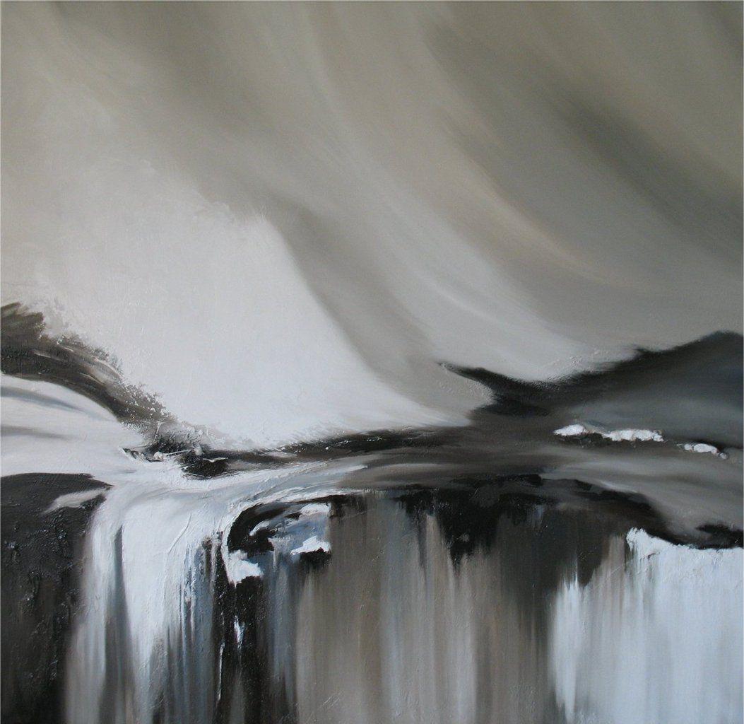 Avalanche, peinture à l'huile, 120 x 120