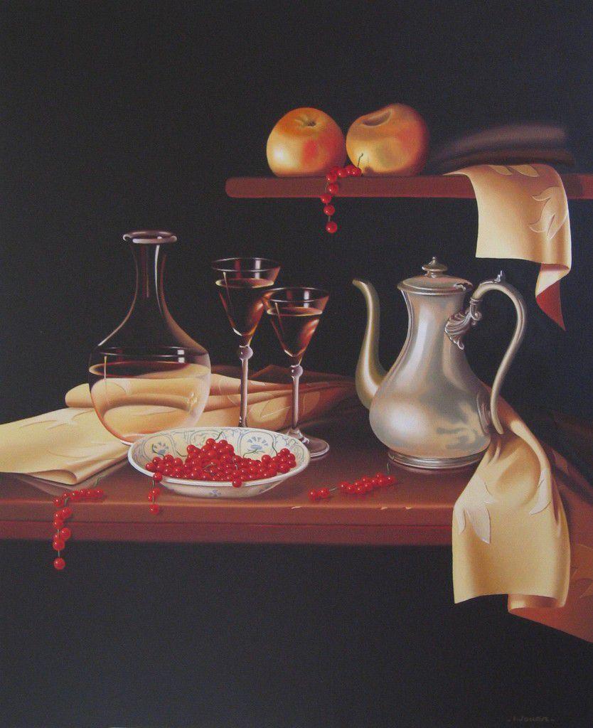 Nature morte à l'Etain, peinture à l'huile, 65 x 54 -  Vendu