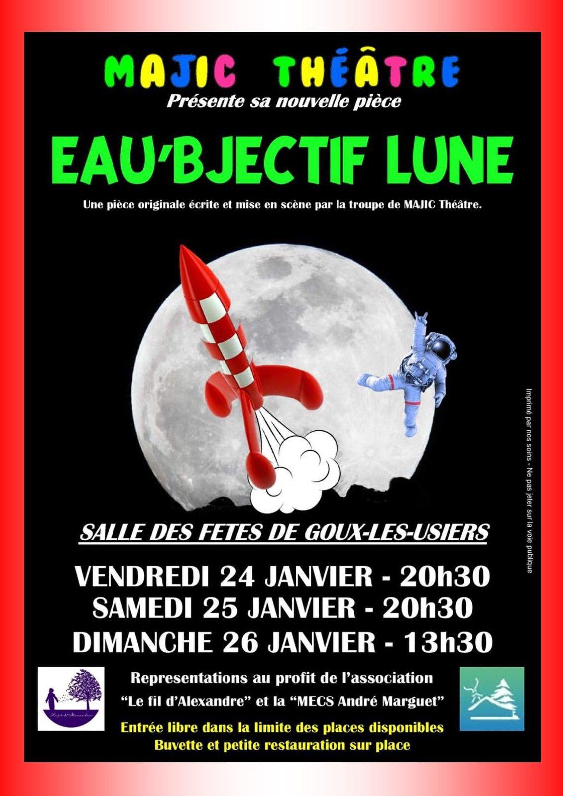 EAU'BJECTIF LUNE - Majic Théâtre