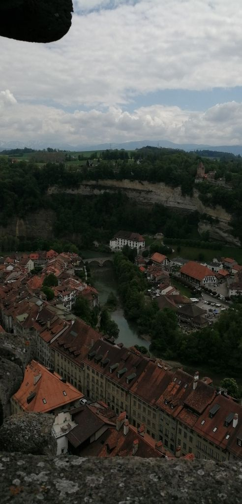 Vue de Fribourg, du haut de la tour de la cathédrale