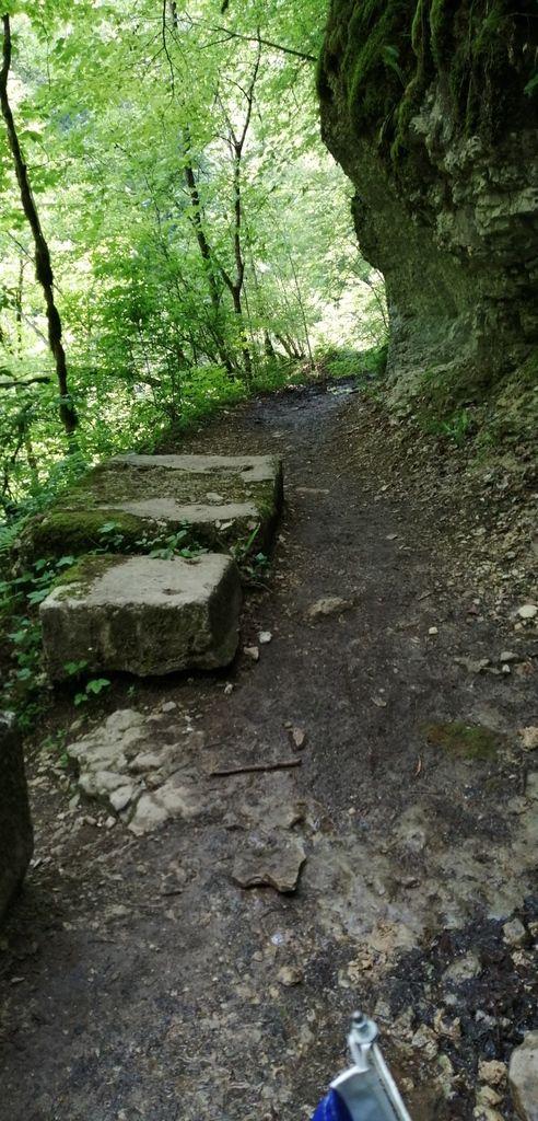 Chemin qui longe la Loue (agrandissez, chercher le chemin)