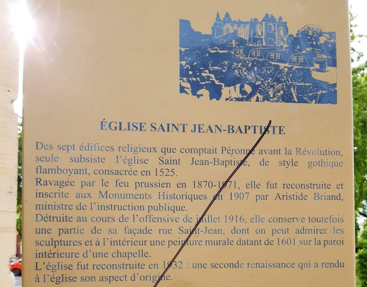 Église  de Péronne ( fermée)