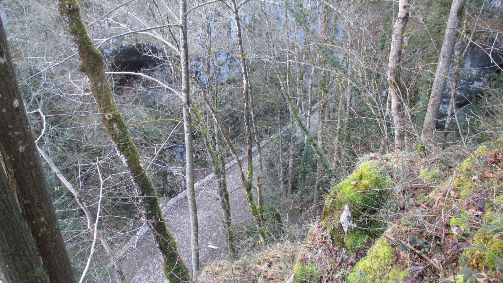 retour à travers la forêt et les lappiases, pour rejoindre la voie Sarde