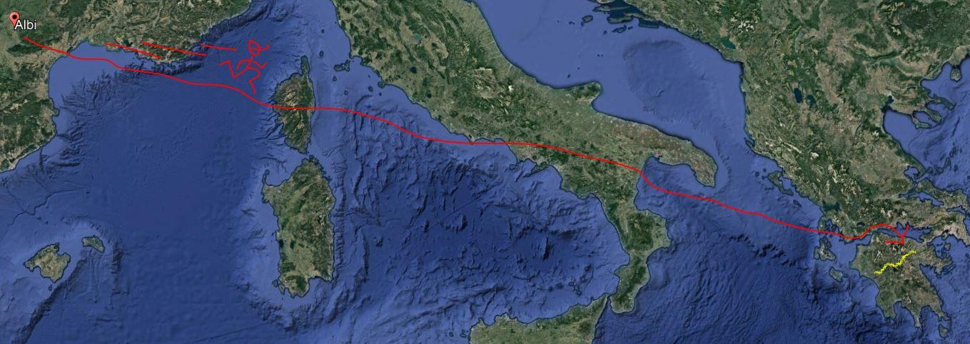 Albi/Athènes la route sera longue...