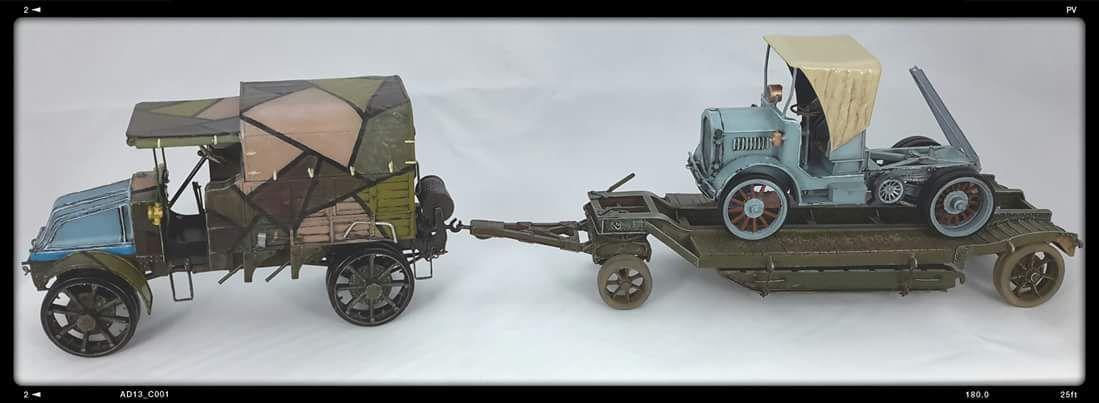 Renault EG, tracteur Knox, remorque Labuire, Blitzkit, 1/35