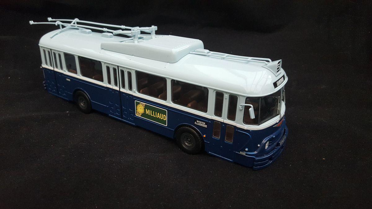 Représentation d'un trolleybus brestois ayant existé jusqu'à la fin des années 60