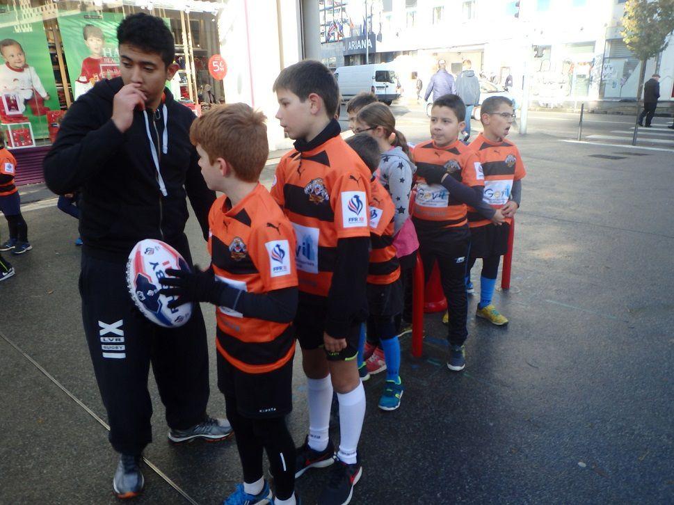 Animation de Rugby à XIII avec Rayan et les tigres du Tonkin