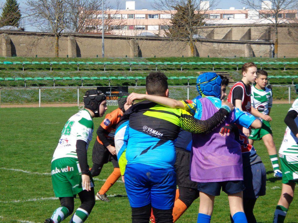 Tournoi à Sainte Foy-Lès-Lyon sous un soleil printanier pour les jeunes tigres de Charpennes Tonkin Tigers Rugby League
