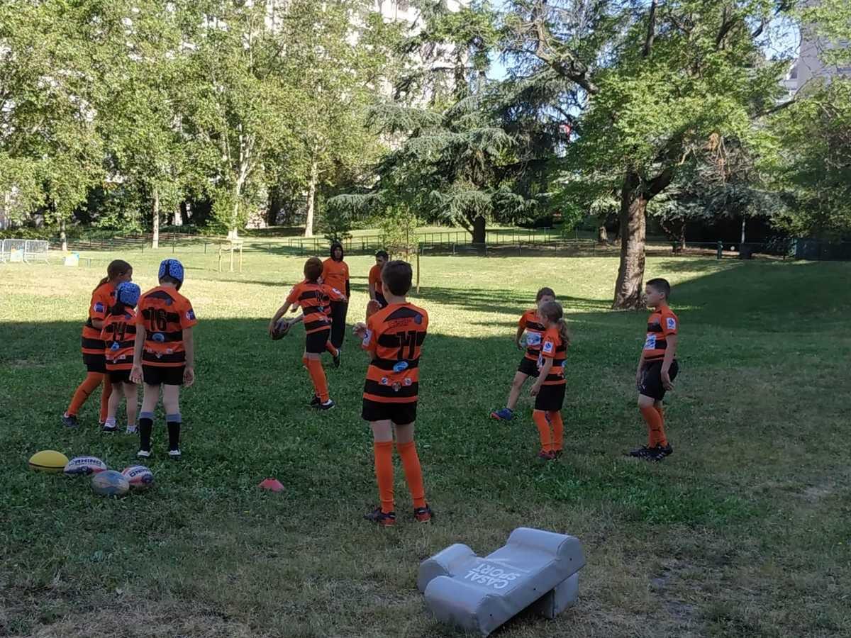 Démonstration de Rugby à XIII à la fête du Sport et de la Jeunesse.