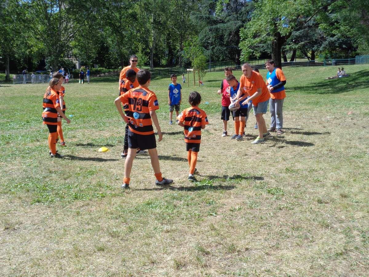 Découverte du Rugby à XIII avec Fred, Dale et les tigres.