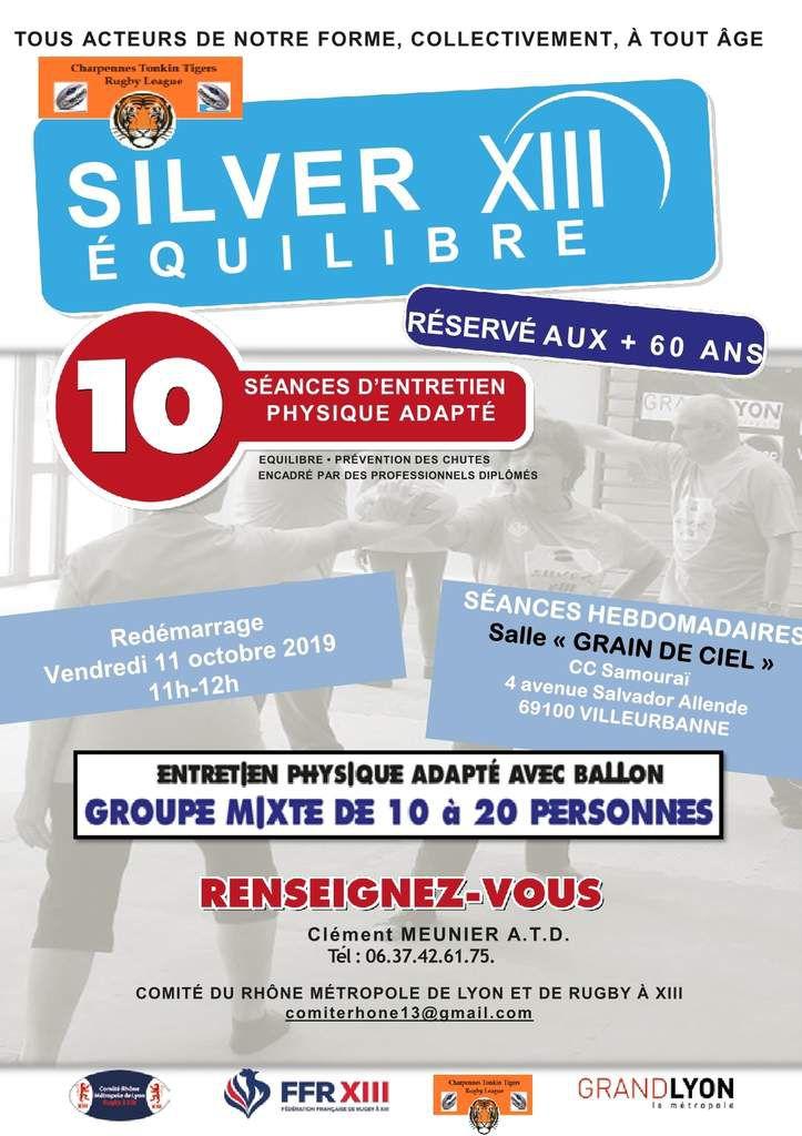 Affiche de reprise de l'activité Silver XIII au Tonkin le 11 octobre 2019.
