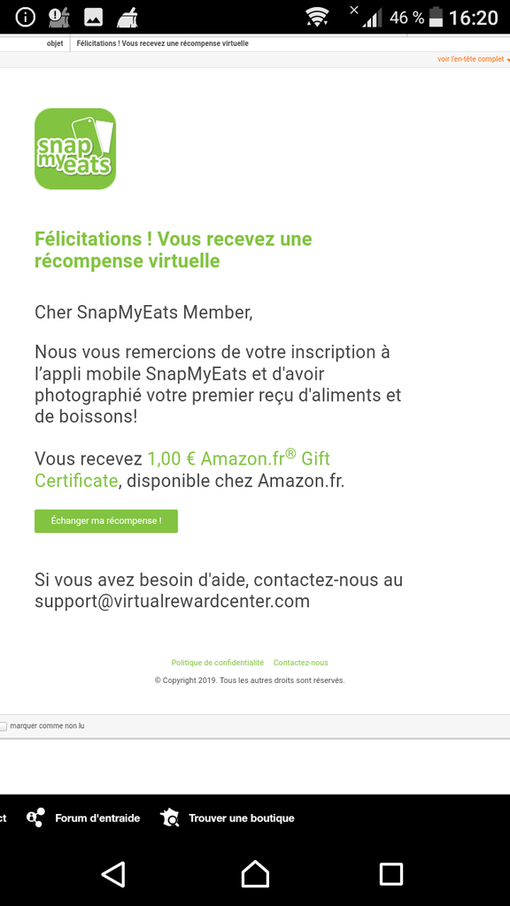 snapmyeats application amazon missbonsplansdunet mail carte cadeaux code cadeau