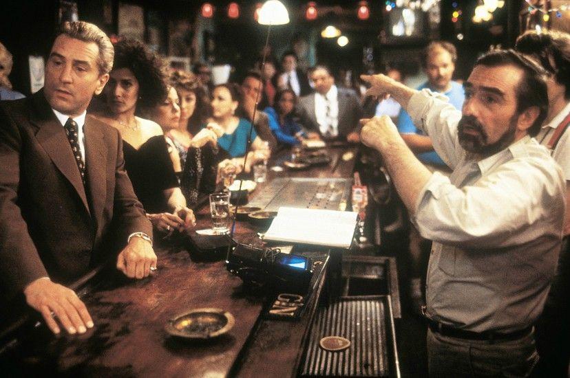 Robert de Niro et Martin Scorsese sur le tournage des Affranchis