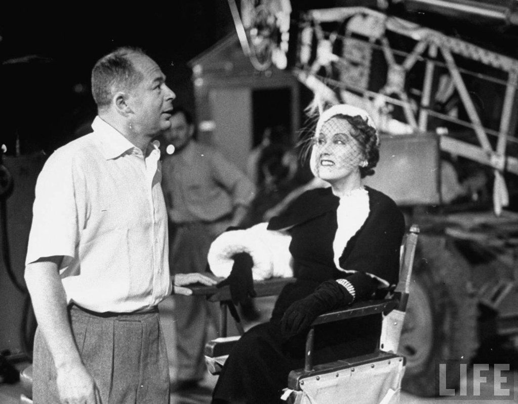 Billy Wilder et Gloria Swanson sur le plateau de Sunset Boulevard